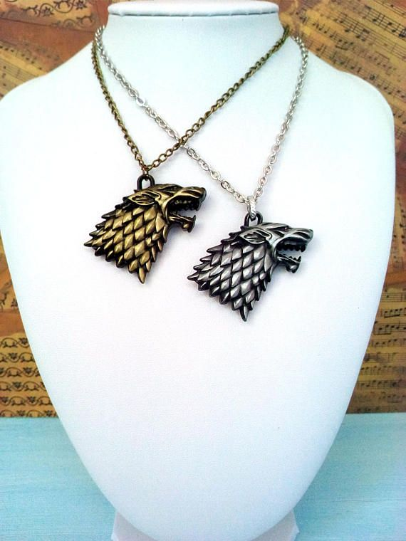 Game of Thrones House Stark Wolf Necklace Keychain Geek gift