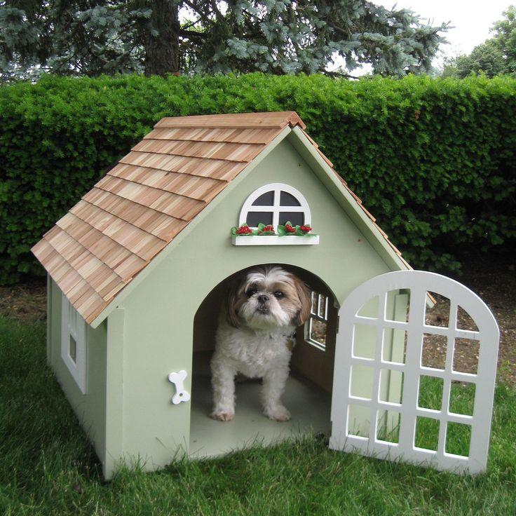 Small Backyard Ideas Dogs: Home Bazaar Victorian Small Green Dog House