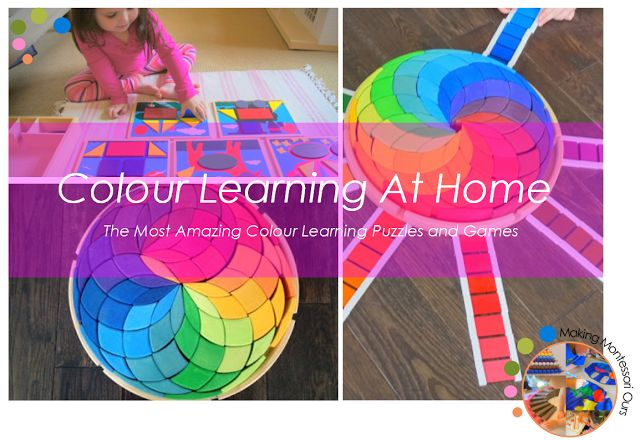 """Making Montessori Ours"": The Best Colour Learning Puzzles & Games For Kids, Montessori At Home"