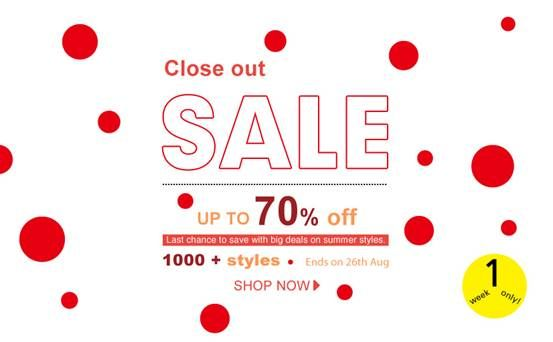 Romwe Close out sale!  Save up to 70% on 1000+ Styles Something you need in life but haven't got it, just go! >> http://www.romwe.com/close-out-sale-c-235.html?wn