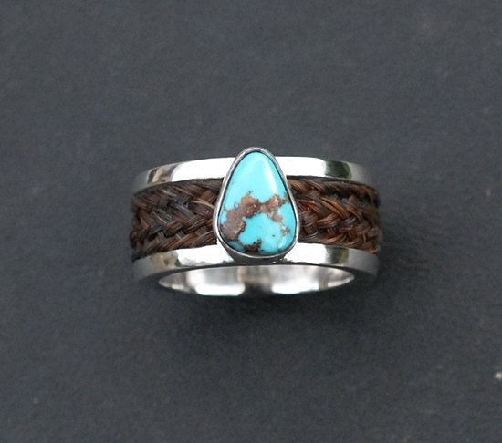 Custom horsehair ring, sterling silver  horsehair ring, rose gold horsehair ring, turquoise horse ring,horse jewellery horse gift