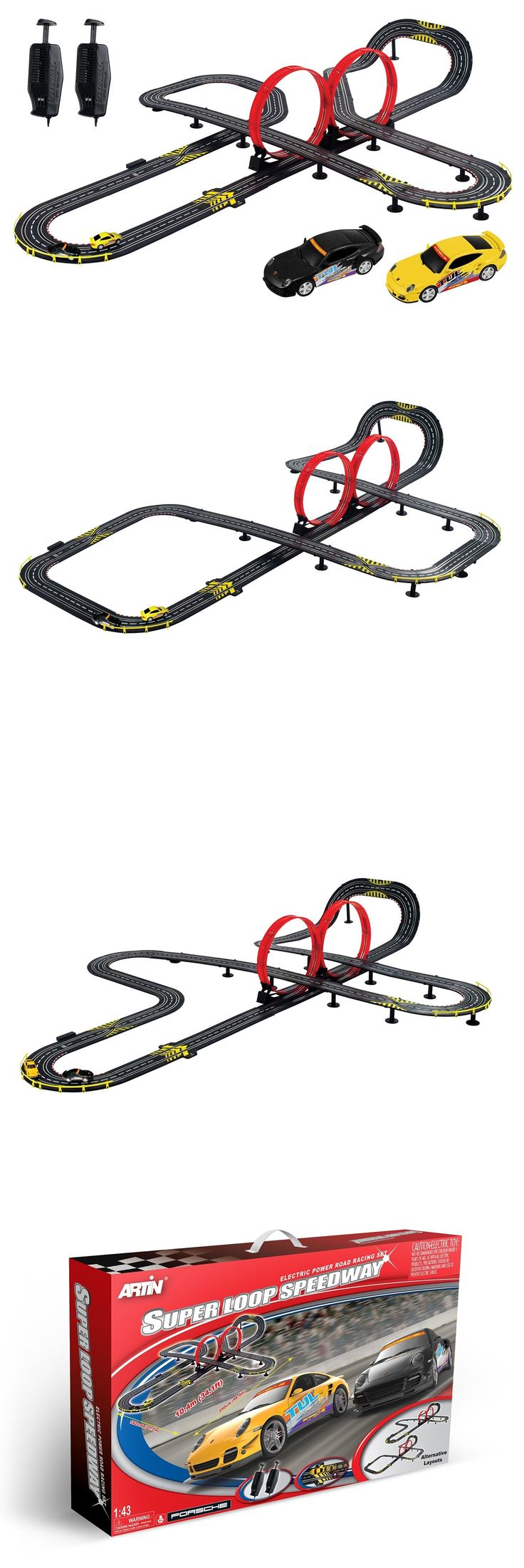 1970-Now 152936: Artin 143 Scale Super Loop Speedway Slot Car Racing Set With Porsche 911 Cars -> BUY IT NOW ONLY: $109.9 on eBay!