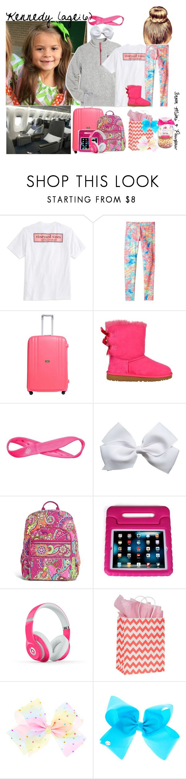 """""""Kennedy // Rainy Day Flight Home 🌧"""" by dream-families ❤ liked on Polyvore featuring Vineyard Vines, Lilly Pulitzer, Lojel, UGG, Athleta, Vera Bradley, Handle, Beats by Dr. Dre and TheRogersFamily"""