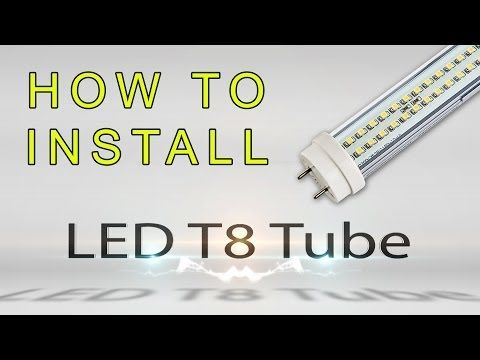 How to Install a T8 LED Tube Replacement Bulb for a Traditional Fluorescent Tube Light - superbrightleds.com