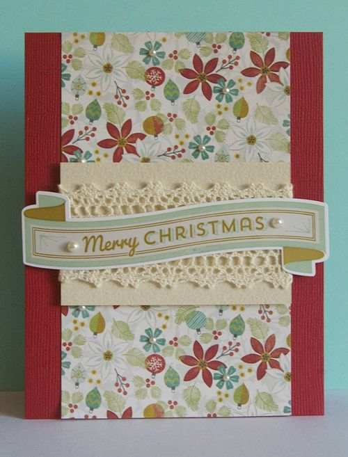 Day 10 of the 2013 12 in 12 Christmas Card Challenge: Merry Christmas by Ashley Harris.