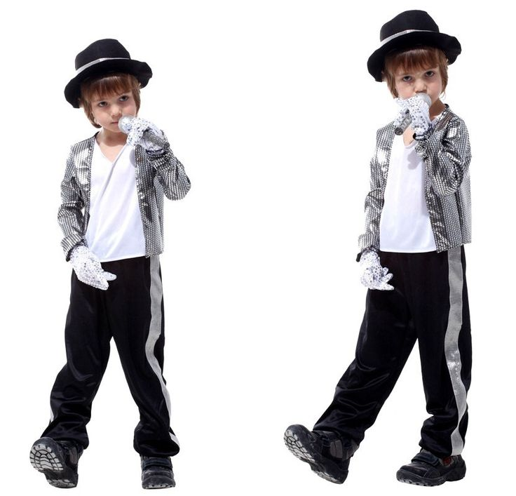 Free Shipping Kids Michael Jackson Costumes Halloween Masquerade Party Boys Fancy Dress Children Cosplay Clothes