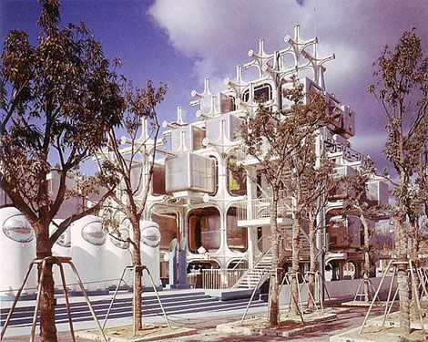 Takara Beautilion Pavilion designed by Kisho Kurokawa