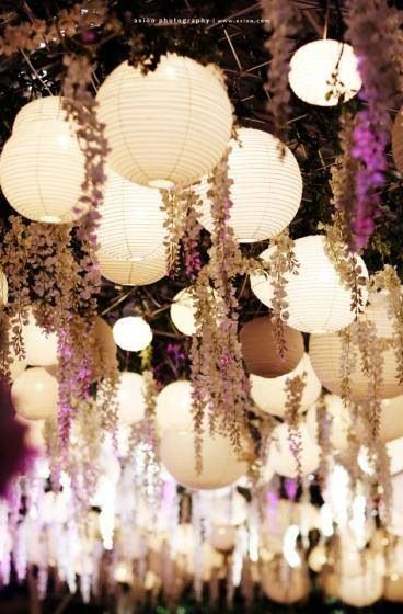 Perfect for a June party, when the Wisteria is out! :)