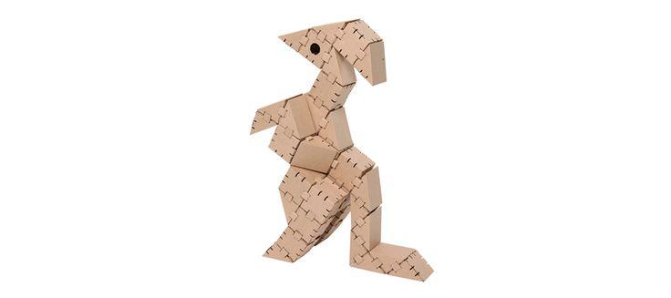 Cardboard dinosaur