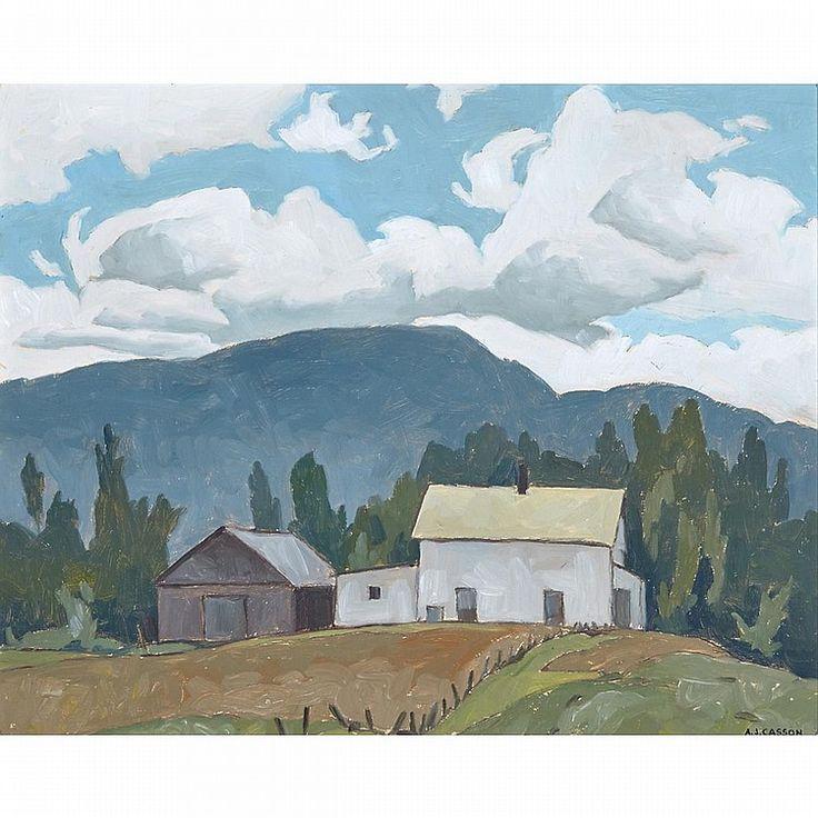 """The Farmhouse,"" A.J. Casson, 1978, oil on board, 12 x 15"", private collection."