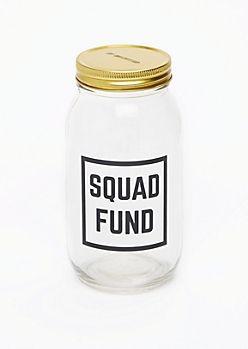 Squad Fund Mason Jar Bank