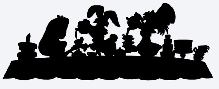 Disney Alice In Wonderland Silhouette Mad Hatter