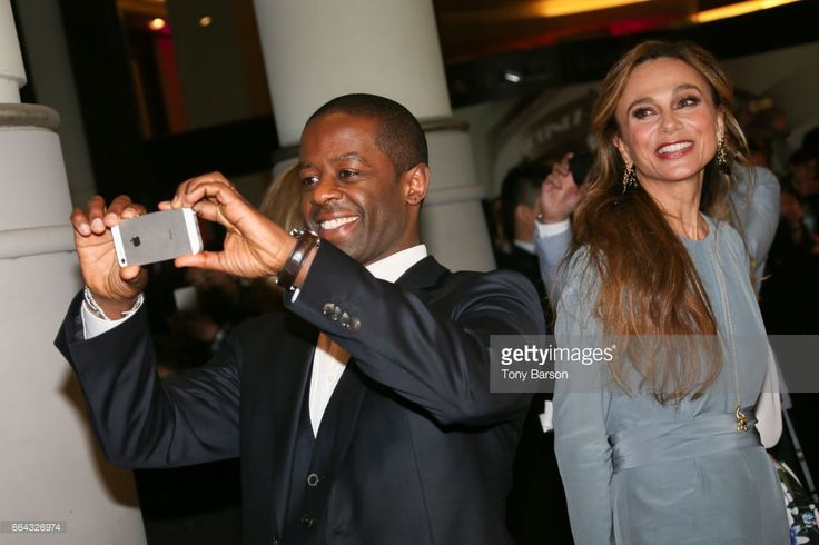 Adrian Lester and Lena Olin arrives at the MIPTV 2017 Opening Party at the Martinez Hotel on April 4, 2017 in Cannes, France.