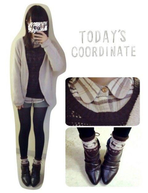 冬, チノショーパン, チェックシャツのファッションコーディネート(m a k ! ..さん) 1545092 | ファッション検索のコーデスナップ