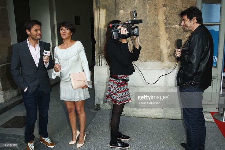 Photo d'actualité : Florence Foresti and Patrick Bruel attend the...