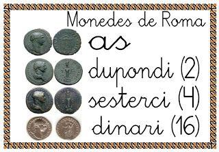 Mi grimorio escolar: ALGUNAS MONEDAS ROMANAS