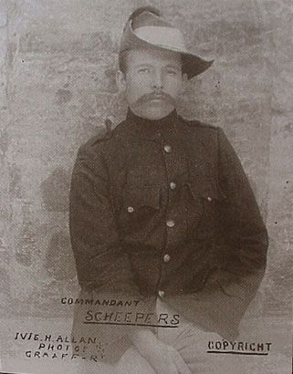 Anglo-Boer war - Commandant Gideon Scheepers surrendered 10 October 1901, he was executed 18 January 1902. He was born in the district of Middelburg, Mpumalanga.