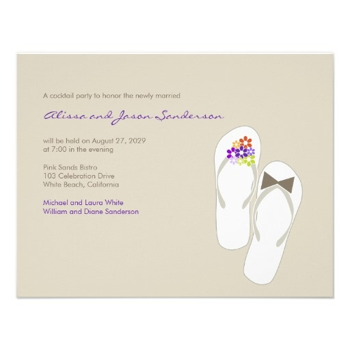 17 Best Images About Flip Flop Wedding Invitations On Pinterest Yellow Beac