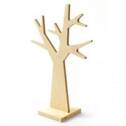 Juwelenboom met voet, beide gemaakt uit FSC-berkenhout.