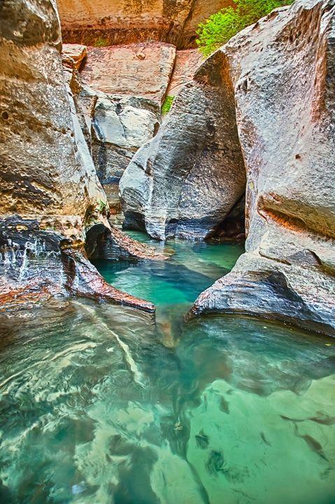Subway Pools - Zion National Park - Utah - USA