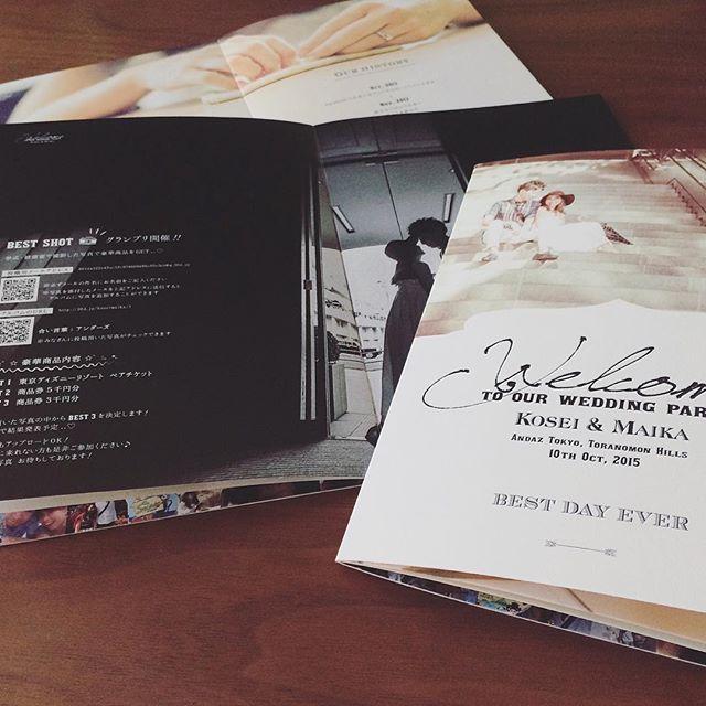 ホームページからコンタクトのあったお客様の「席次BOOK」を制作させて頂きました。  全12pの中に、いわゆる「席次表」や「ゲスト紹介」「ヒストリー」ページなどもある、読み応えのある素敵な1冊となりました。  東京都 I様M様 席次BOOK クライアント: 個人  #onzeworks#wedding#paperitem#guestbook#bridal#graphicdesign#design#originalwedding#結婚式#席次表#ペーパーアイテム