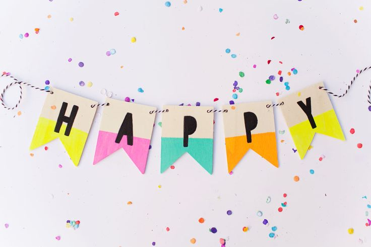 This DIY is easy easy and costs very little! So be prepared, and have this wood birthday banner ready because you never know when you might need to throw a party.