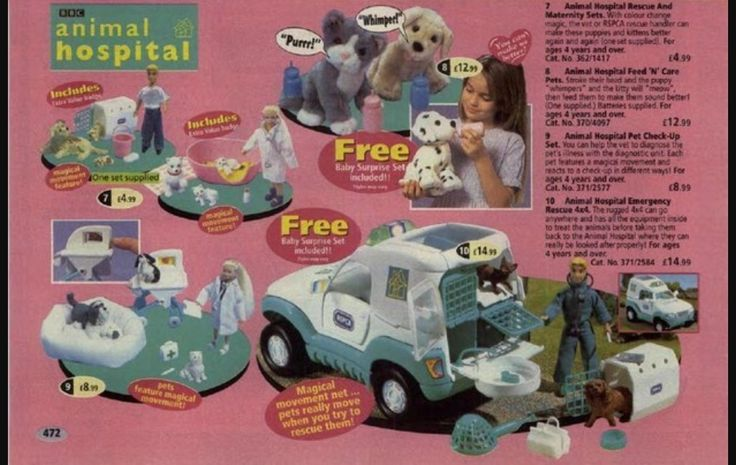 Argos Catalogue Page For Animal Hospital Toys From The 1990s