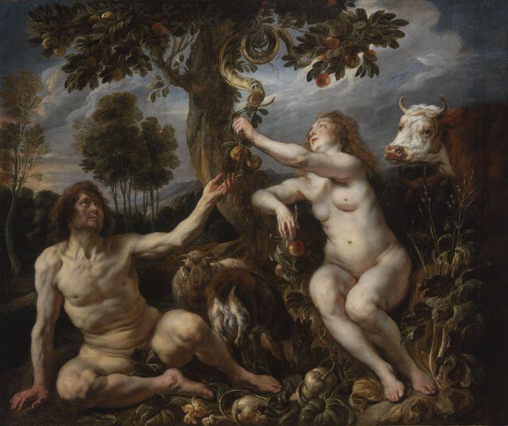 Adam and Eve (The Fall of Man) / Adán y Eva // ca. 1630 // Jacob Jordaens // Museum of Fine Arts of Budapest