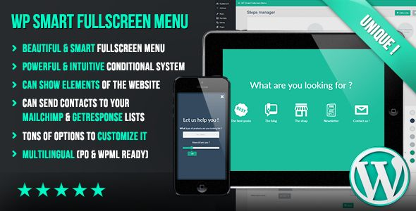 WP Smart Fullscreen Menu - CodeCanyon Item for Sale