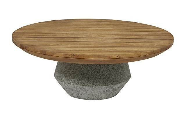 CABO ROUND CONCRETE COFFEE TABLE