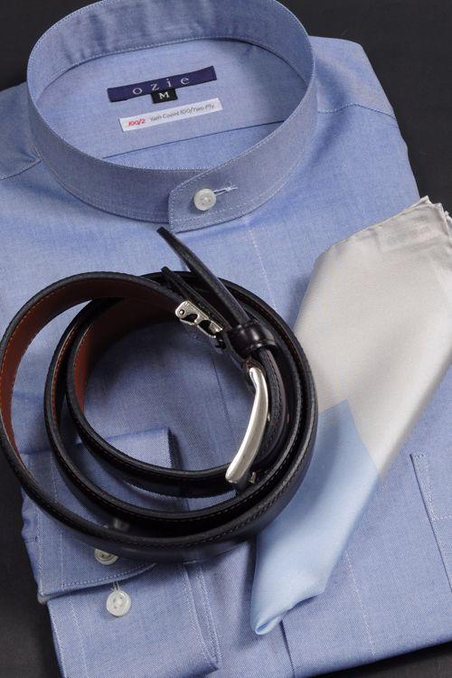 ozie|オジエ・スタンドカラー 愛用いただける上質素材 #mens #shirtstyle #shirt coordinate #mensfashion #dress shirt #Tie #necktie #メンズファッション #コーディネート #ワイシャツ #ネクタイ