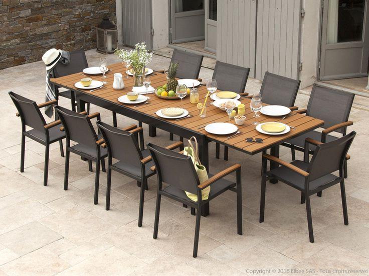 17 meilleures id es propos de salon de jardin aluminium for Table exterieure extensible