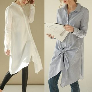 Buy MayFair Long Shirt at YesStyle.com! Quality products at remarkable prices. FREE WORLDWIDE SHIPPING on orders over US$ 35.