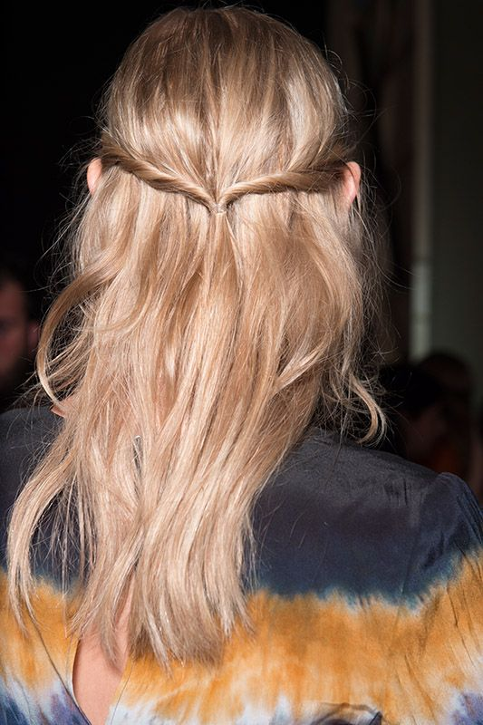 SS2016 Altuzarra backstage blonde cool hairstyle easy
