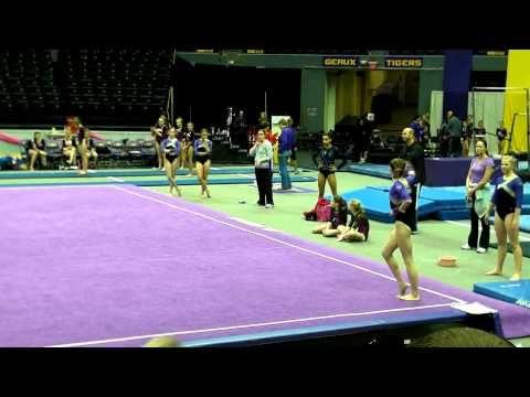 Lauren's Level 7 gymnastics floor routine 9.750 - YouTube