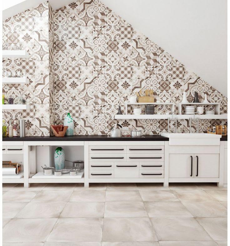 Marockanskt kakel online för badrum och kök på Kakelmonster | Dekoration Montblanc Pärlemor 20x50