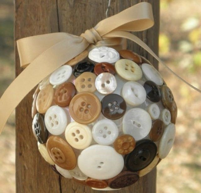 This made with pretty colored buttons would be so cute....and a great way to use LOTS of Buttons, Lynda.