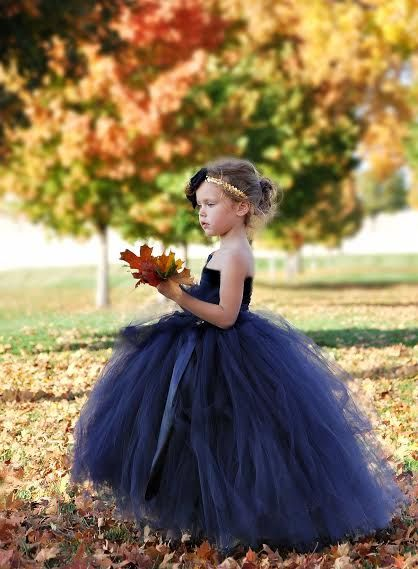 flower girl dress navy and gold nautical flower by alorasafari