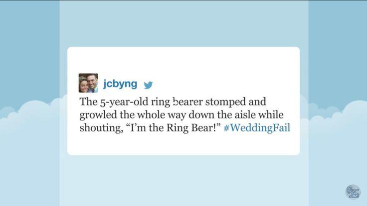 The Tonight Show with Jimmy Fallon Hashtags: #WeddingFail http://ibeebz.com