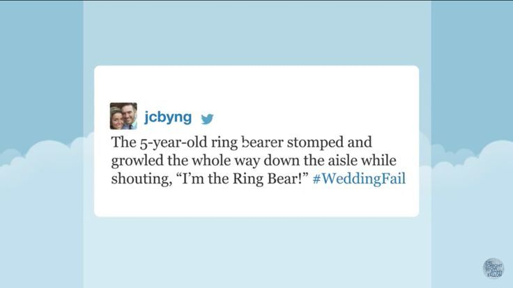 The Tonight Show with Jimmy Fallon Hashtags: #WeddingFail http://ibeebz.com