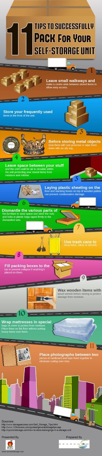 A leading NewYork based storage services provider, NYCMinistorage has released a new infographic. The infographic titled '11 Tips To Successfully Pack For Your Self Storage Unit' throws a light on giving guidance to prospective storage unit renters about the steps they can take to keep their stored items in good condition.
