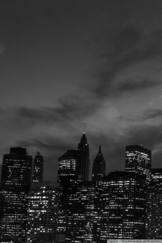 New York City Black And White At Night 4k Hd Desktop Wallpaper New York Wallpaper York Wallpaper Iphone Wallpaper