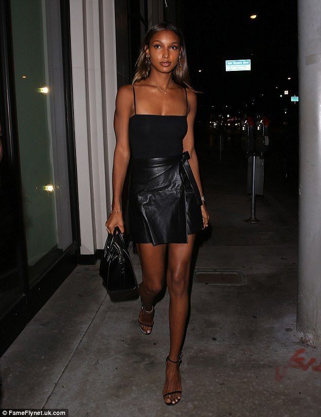 Jasmine leaving a club in LA.