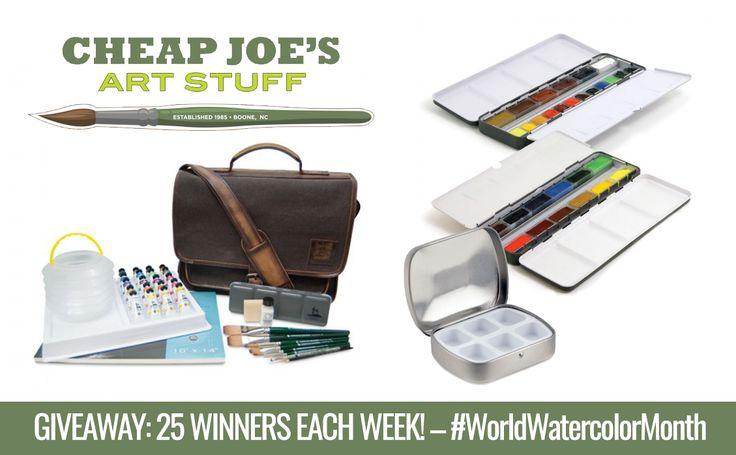 Cheap Joe's Art Stuff Weekly World Watercolor Month Giveaway