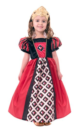 Queen Of Hearts Dress Up With Tiara Valentines Day Princess
