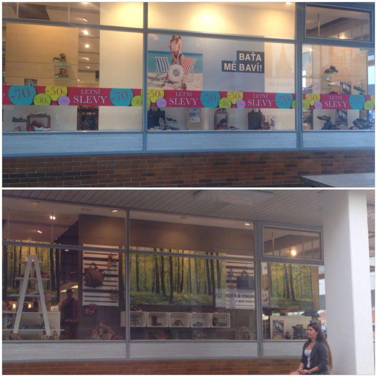 Before and after - bata store/zlin/czech #visualmerchandise