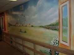 Alzheimer's Dementia Memory Care Program | Whiting, NJ- love the idea of murals #elderlycare #elderlycaredementia