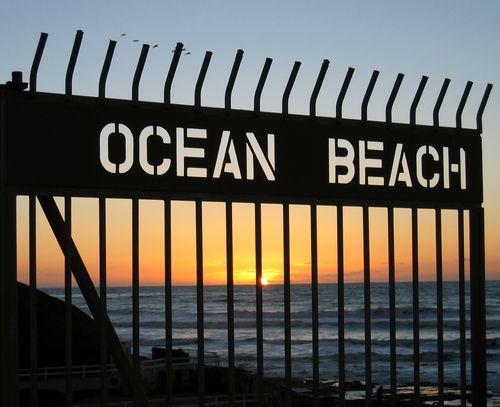 Gate on the pier at Ocean Beach, San Diego