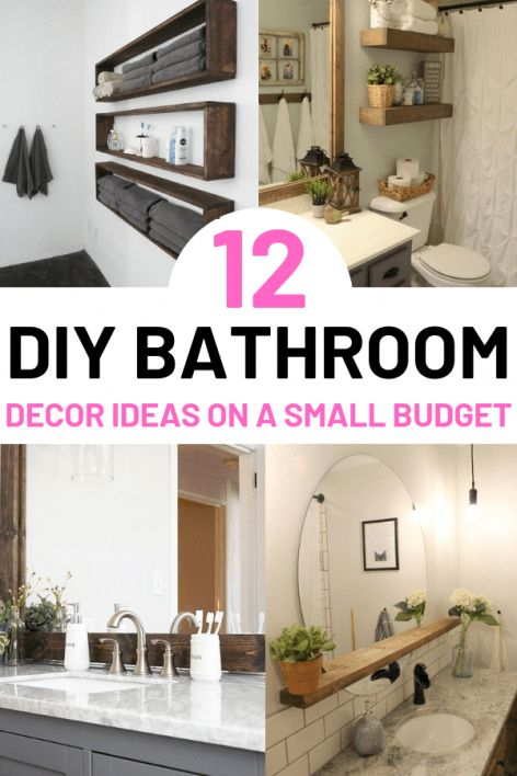DIY Bathroom Decor Ideas – WOW, I love these easy bathroom decor ideas using cheap Dollar Stores items! Now I can finally update the washroom in my sm…