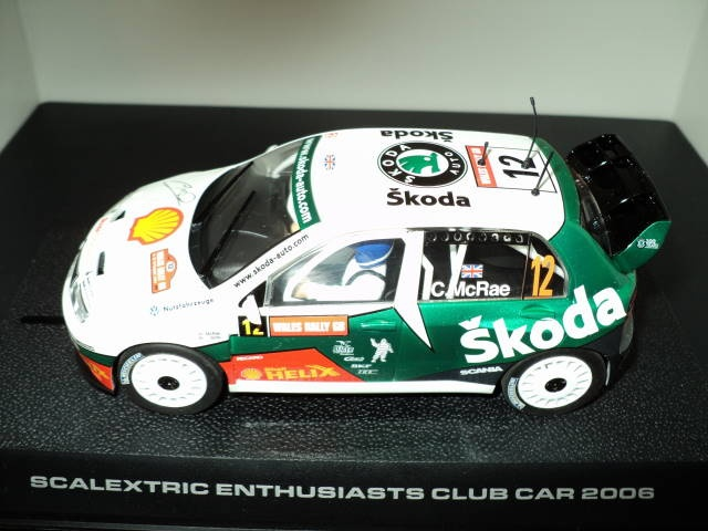 SCALEXTRIC Skoda Fabia WRC- This Scalextric Skoda Fabia WRC is new and unused. It is complete with all parts present and correct. This model is based on the Skoda Fabia WRC car raced by Colin McRae.- http://theslotracer.com/store/products/dsc04803/
